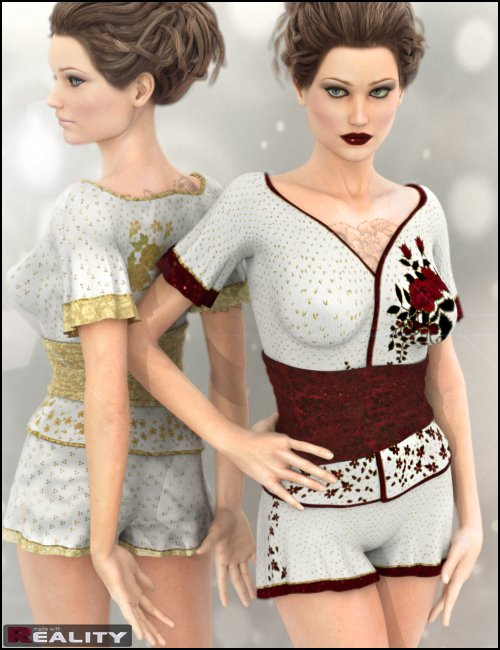 Dynasty Textures for Wicked Pyjama Party by: Morris, 3D Models by Daz 3D