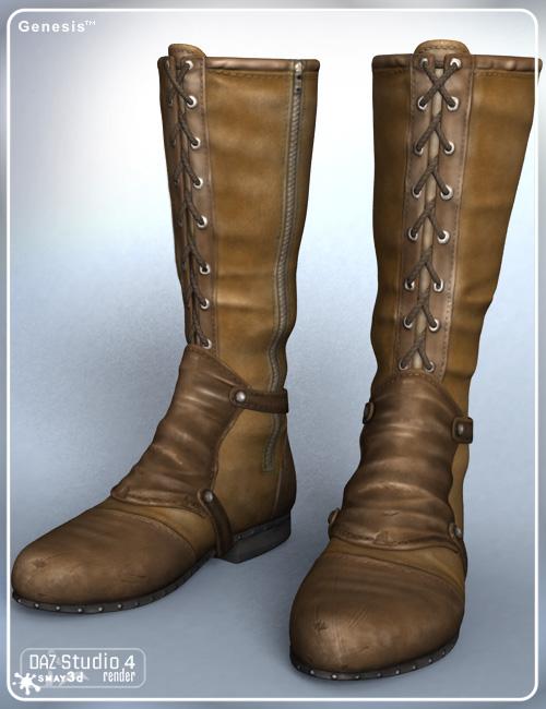 Stalker Girl Boots for Genesis by: Daz Originalssmay, 3D Models by Daz 3D