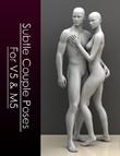 Subtle Couple Poses For Victoria 5 & Michael 5 by: Elele, 3D Models by Daz 3D