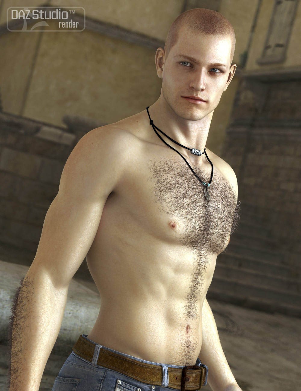 Unshaven Body Hair for Genesis by: , 3D Models by Daz 3D
