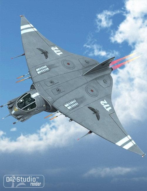 Starship Stingray by: petipet, 3D Models by Daz 3D