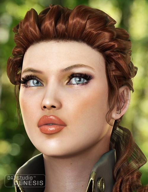 Tears Hair for Genesis by: goldtassel, 3D Models by Daz 3D