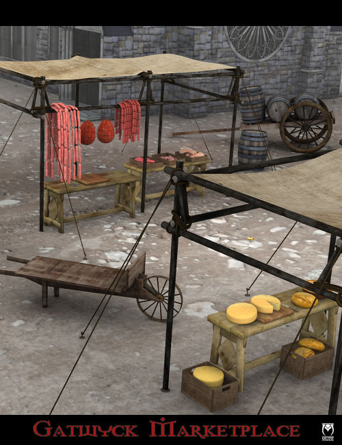 Gatwyck Marketplace by: Muze, 3D Models by Daz 3D