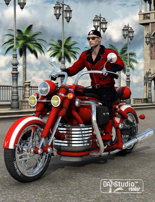 Motorbike Viking by: petipet, 3D Models by Daz 3D