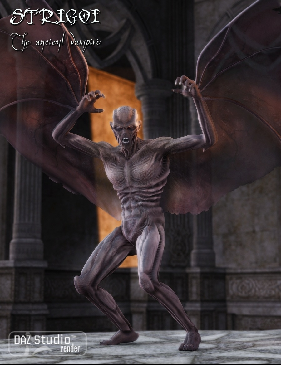 Strigoi : The Ancient Vampire by: Nathy, 3D Models by Daz 3D