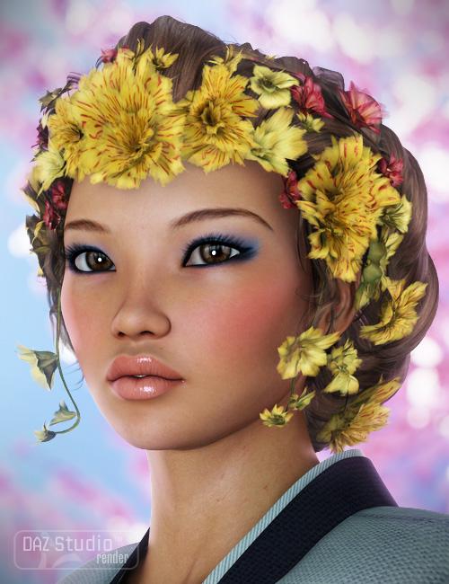 Jade Hair by: goldtassel, 3D Models by Daz 3D