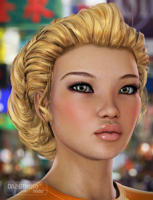 Colors for Jade Hair by: goldtassel, 3D Models by Daz 3D