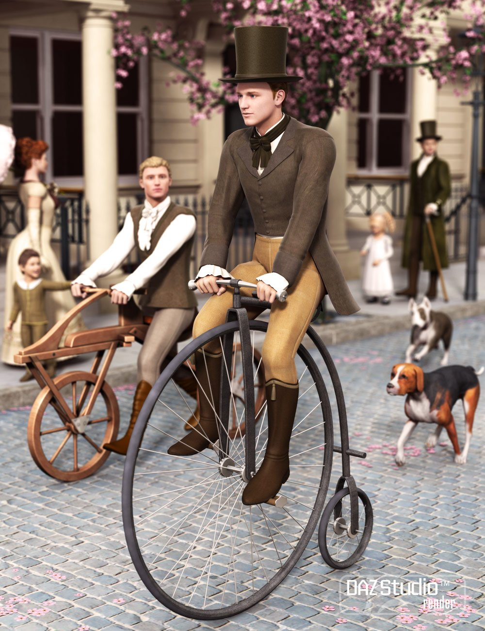 Old Fashioned Bicycles by: Valandar, 3D Models by Daz 3D