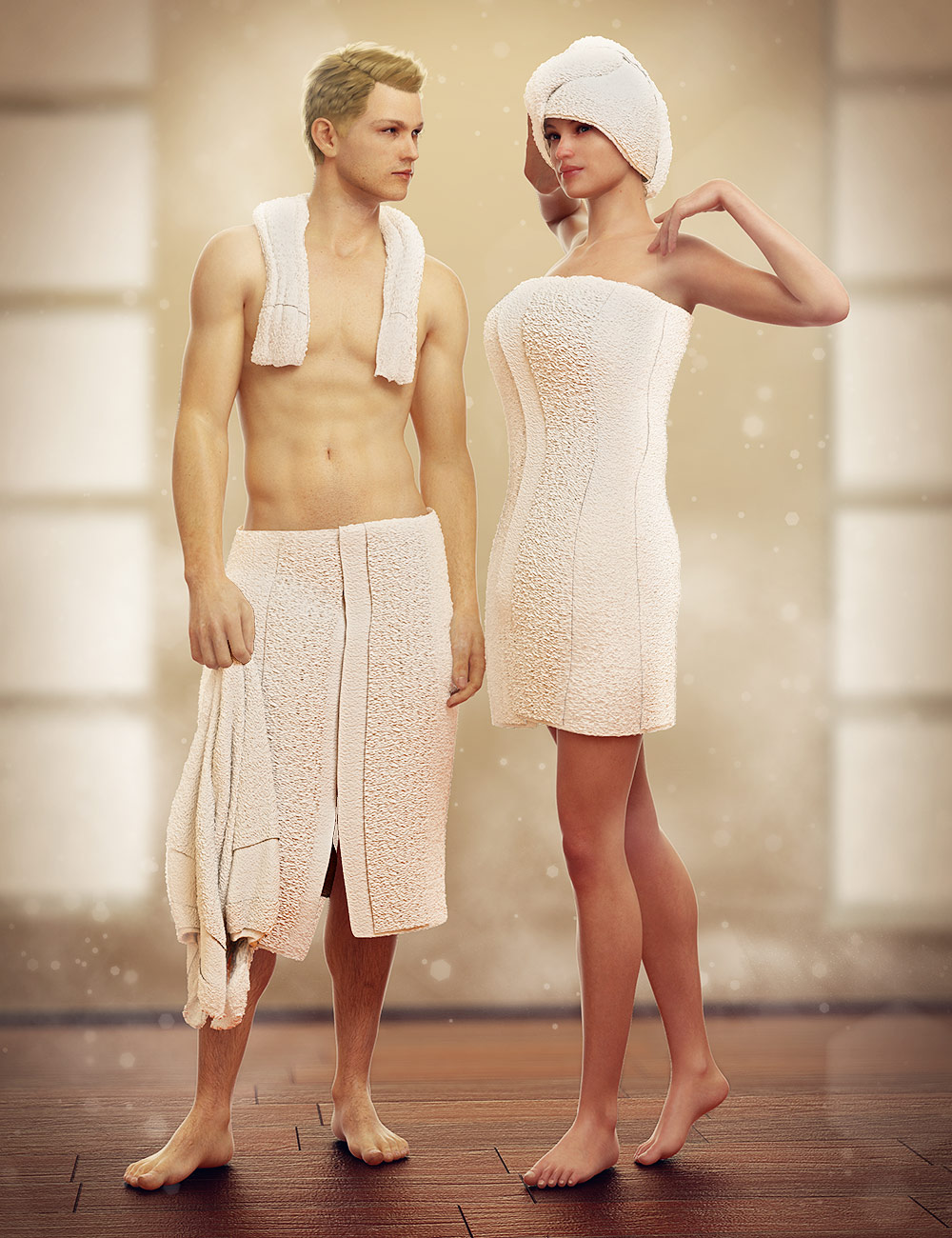 Towel Set for Genesis by: SickleyieldMarieah, 3D Models by Daz 3D