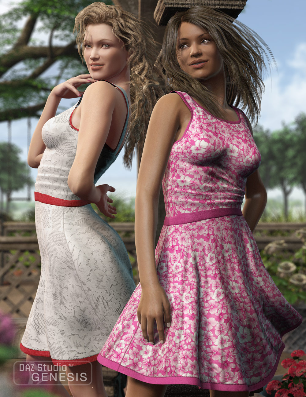 Casual Short Dress Textures by: Sarsa, 3D Models by Daz 3D