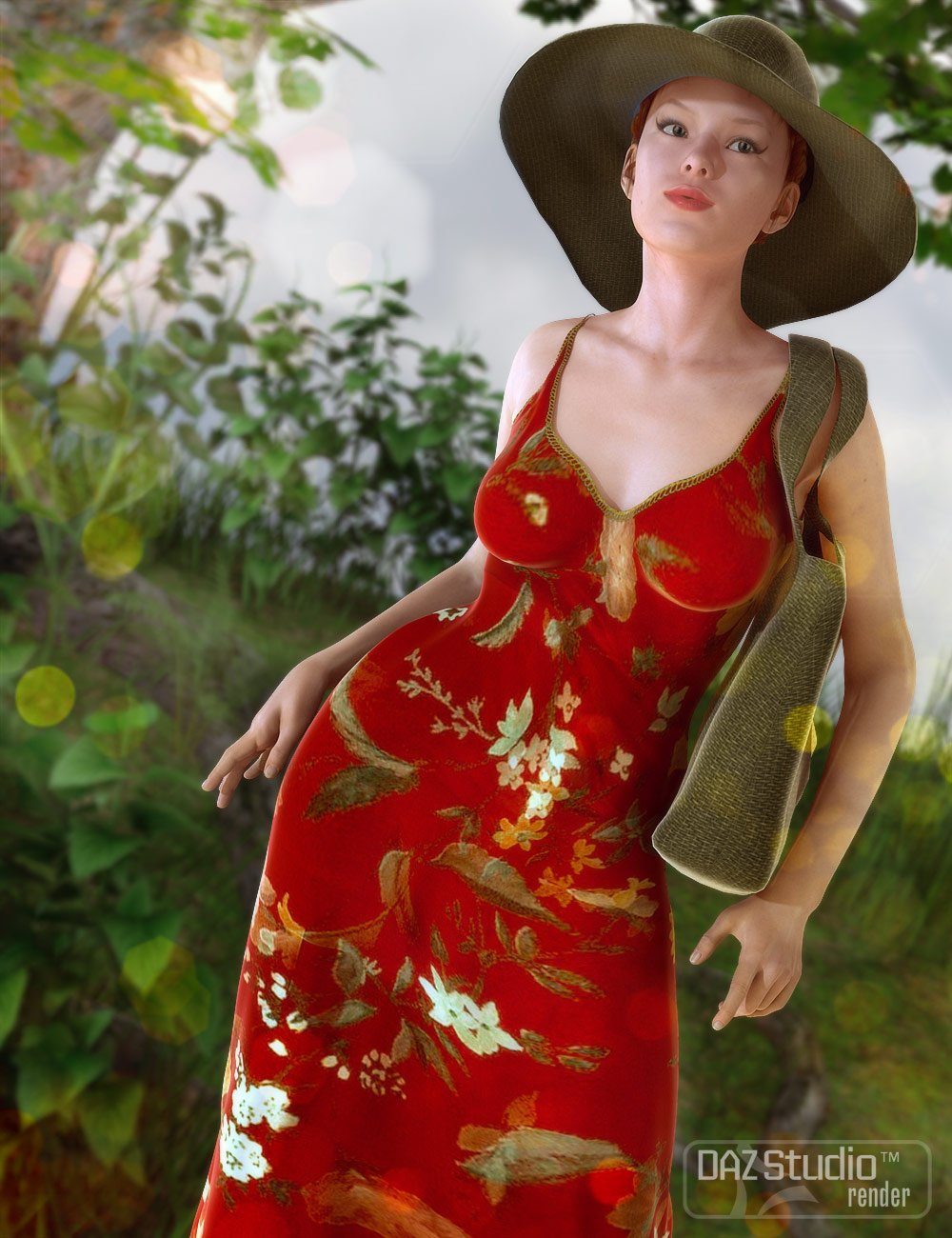 Summer Casuals Fitted Sundress by: Barbara BrundonSarsa, 3D Models by Daz 3D