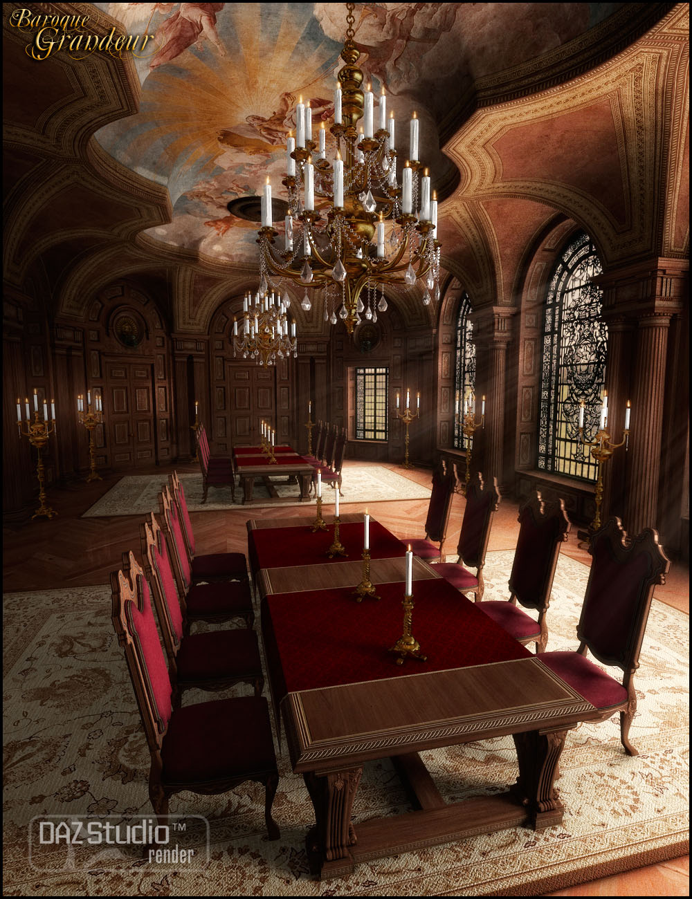 Baroque Grandeur by: Jack Tomalin, 3D Models by Daz 3D