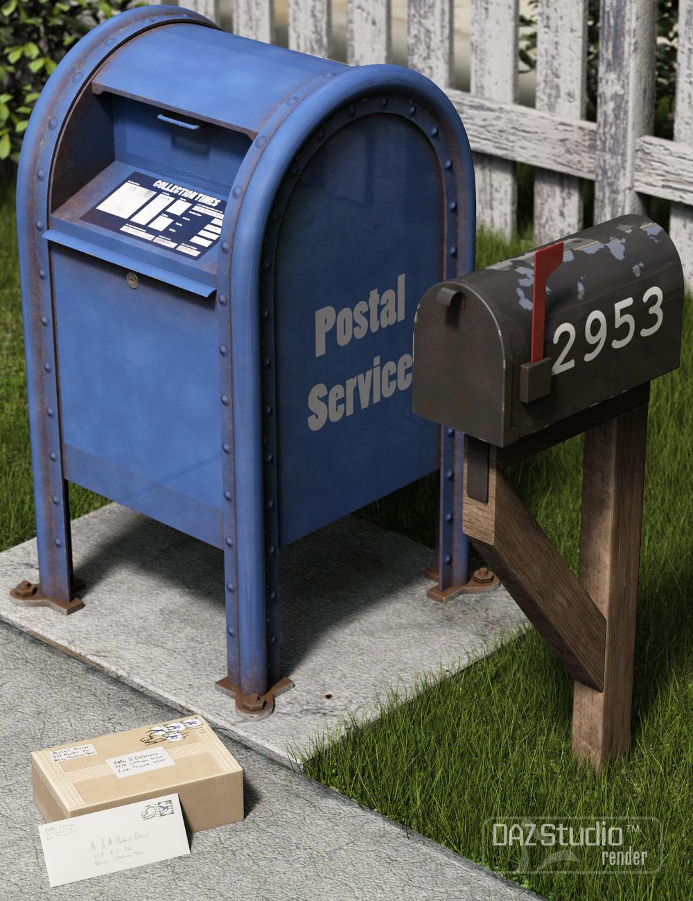 Postal Props by: Valandar, 3D Models by Daz 3D