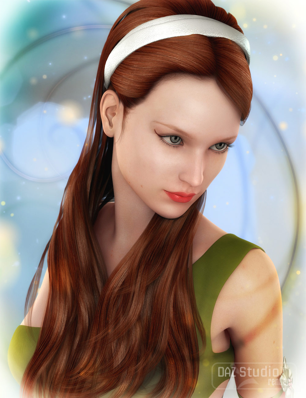 Pure Hair: Lovely for Genesis by: , 3D Models by Daz 3D