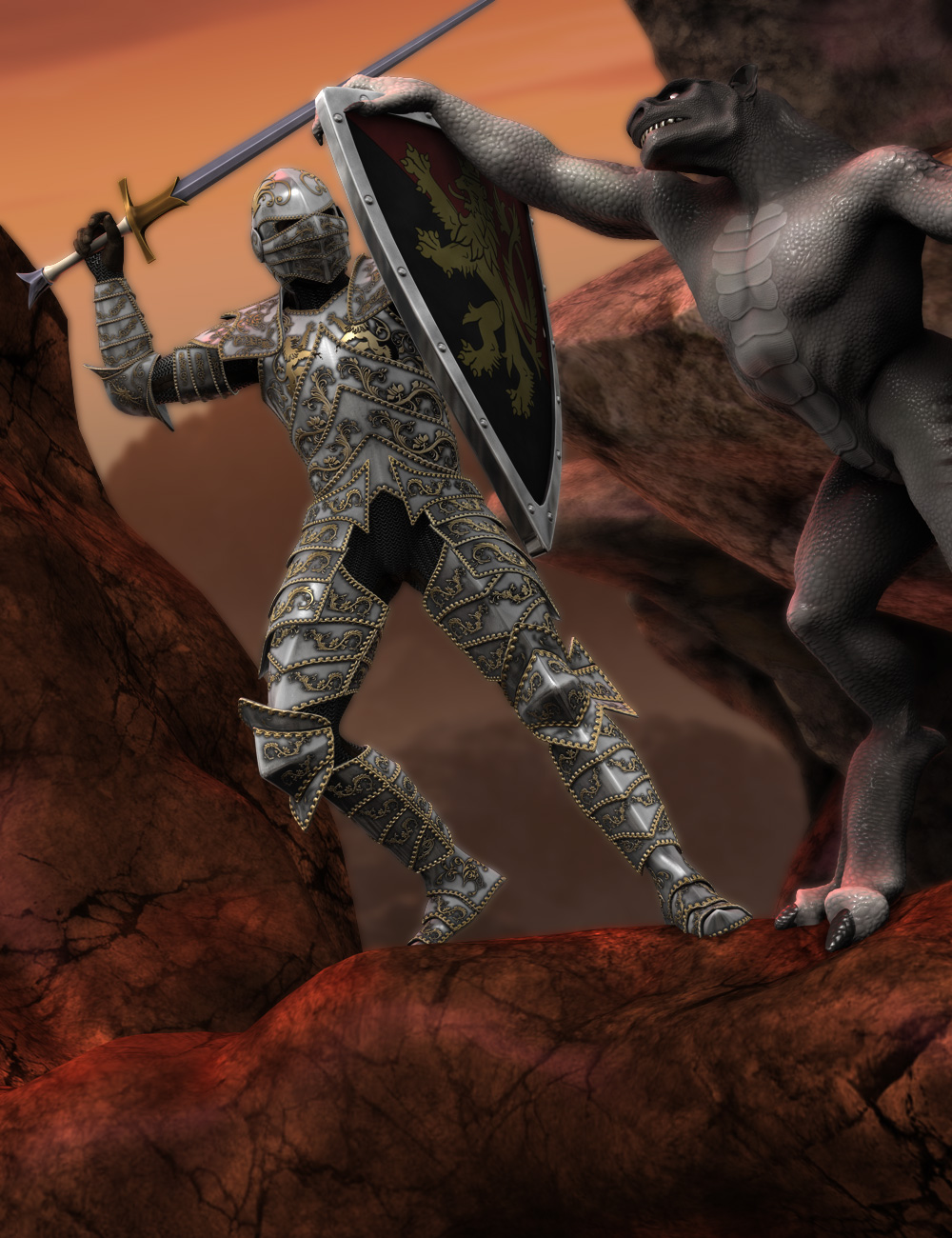 Genesis Cavalier by: Valandar, 3D Models by Daz 3D