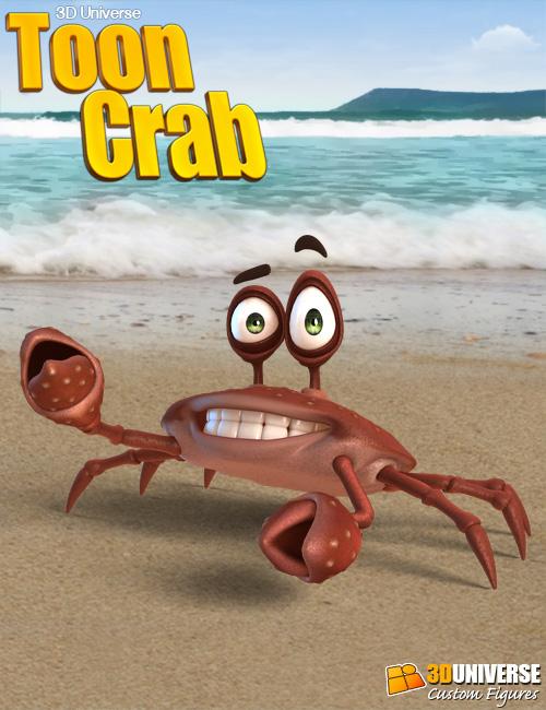 3D Universe Toon Crab by: 3D Universe, 3D Models by Daz 3D