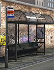 Bus Stop Vignette by: Predatron, 3D Models by Daz 3D