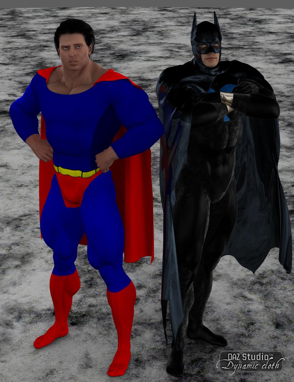 Dynamic Supersuit Set 1 Worlds Finest by: SimonWMOptiTex, 3D Models by Daz 3D