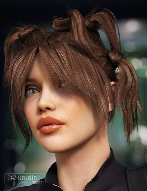 Knotty Tails Hair by: goldtassel, 3D Models by Daz 3D