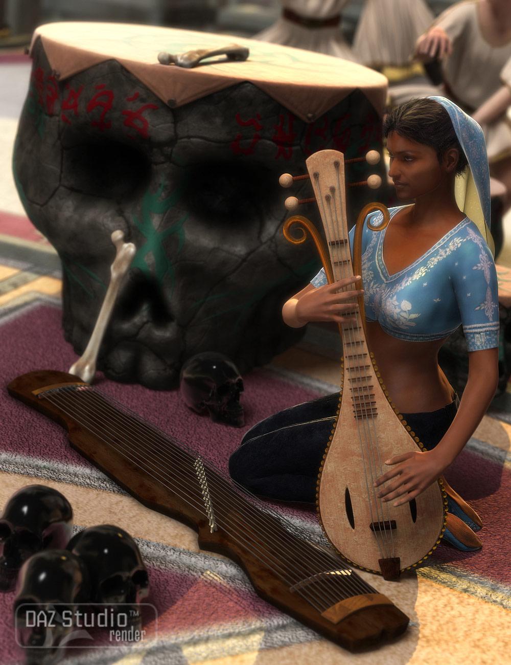 Fantasy Instruments by: Valandar, 3D Models by Daz 3D