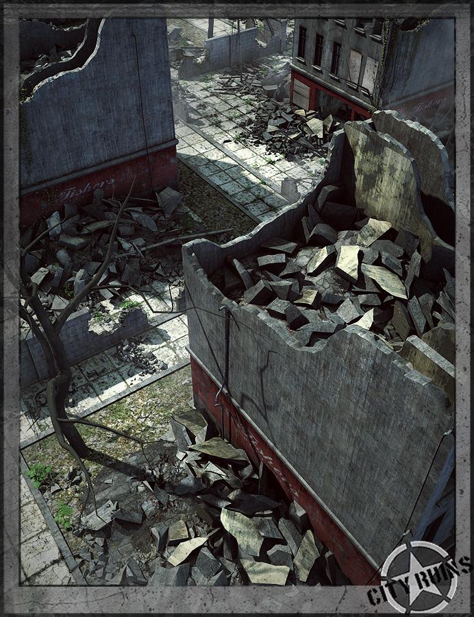 City Ruins Building 04 by: Stonemason, 3D Models by Daz 3D
