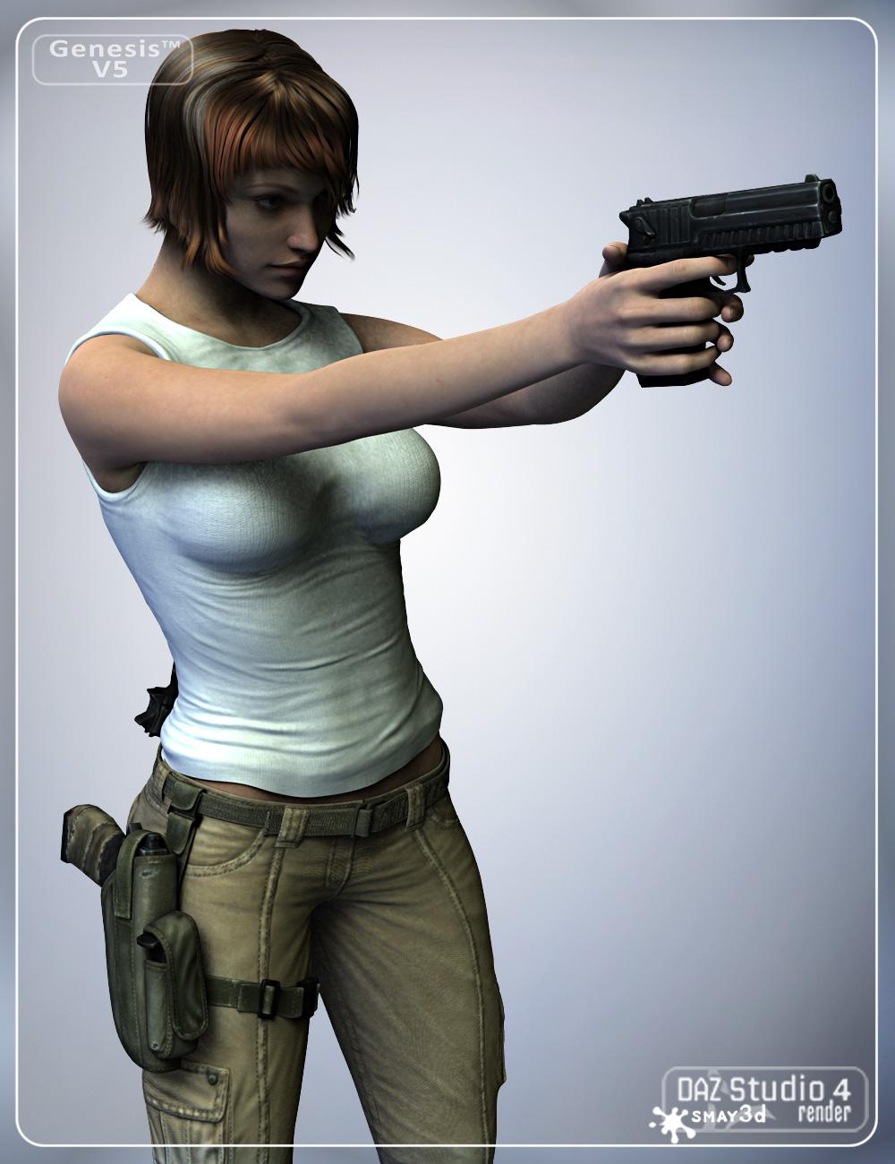 Stalker Girl Guns for Genesis by: smay, 3D Models by Daz 3D