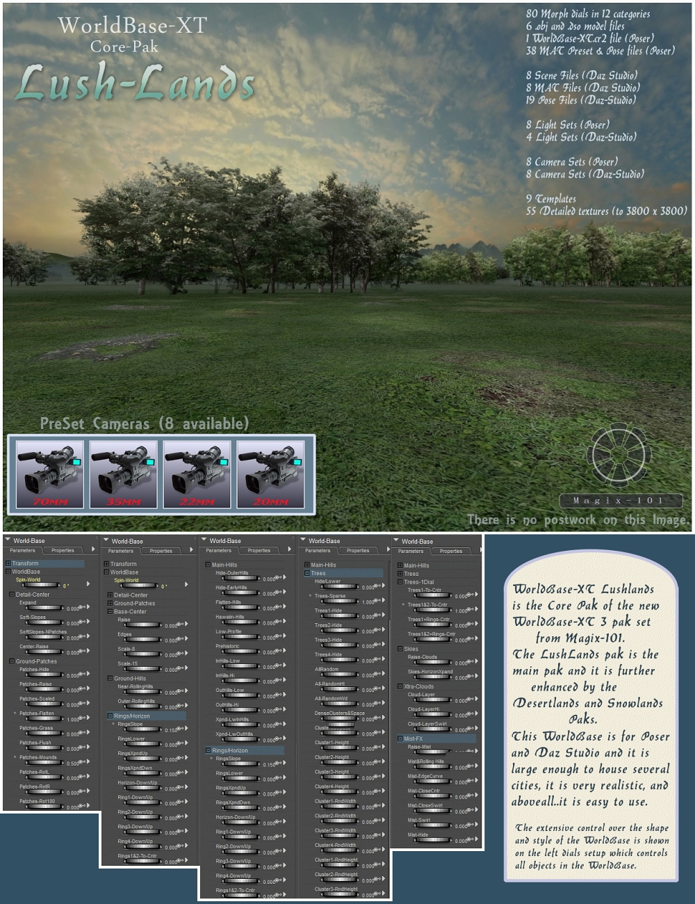 The All New Worldbase XT Lushlands by: Magix 101, 3D Models by Daz 3D