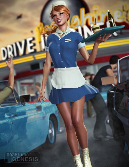 Carhop for Genesis Female by: Ravenhair, 3D Models by Daz 3D