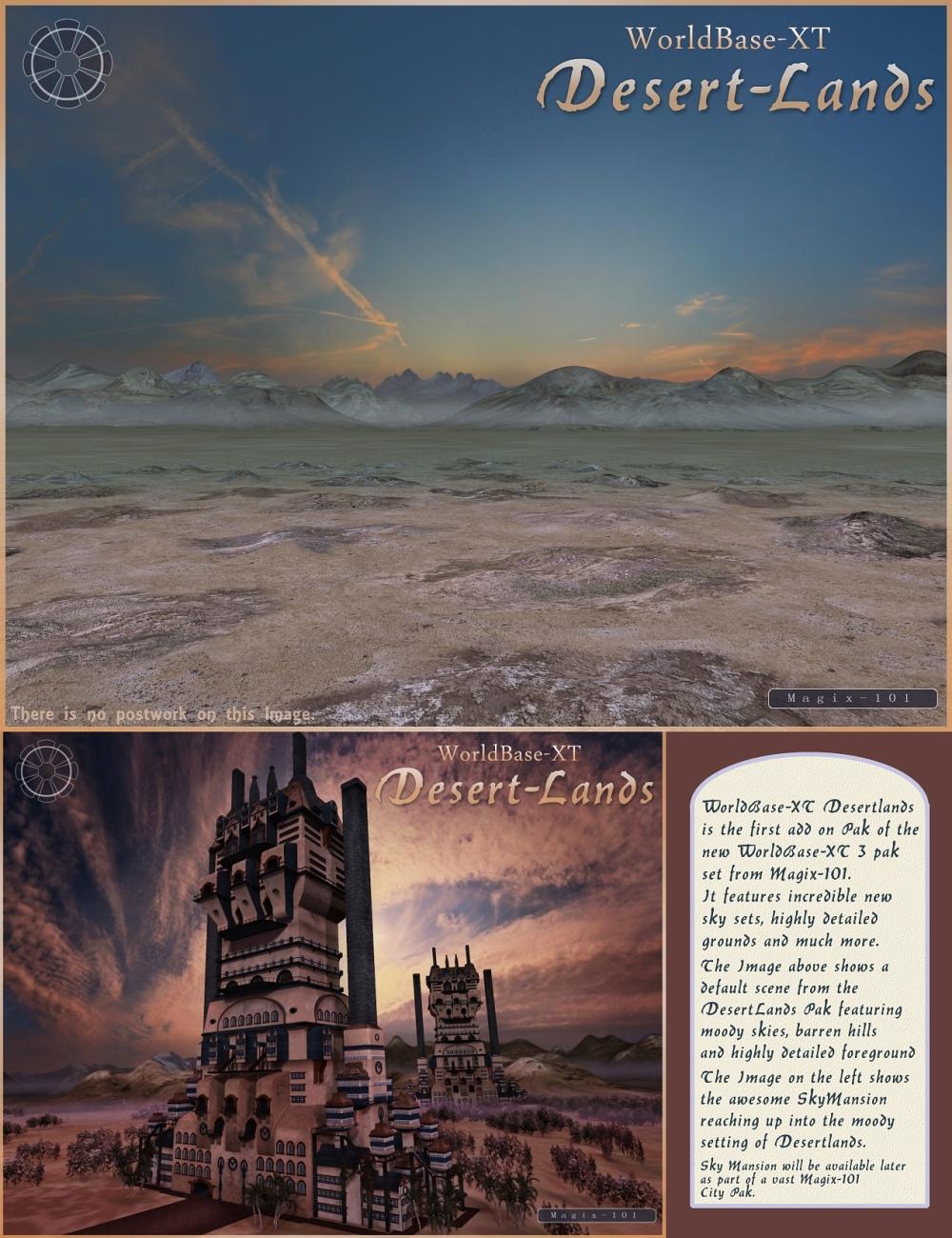 Desertlands Pak for WorldBase XT by: Magix 101, 3D Models by Daz 3D