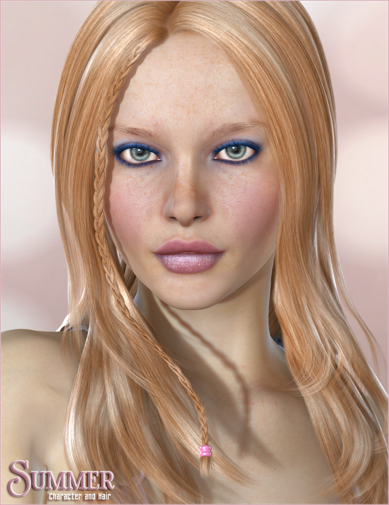 Summer Character and Hair by: Valea, 3D Models by Daz 3D