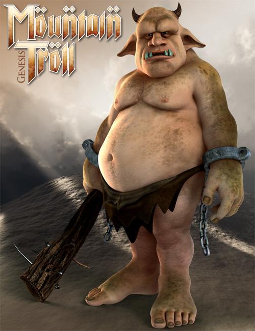 Mountain Troll for Genesis by: 3D Universe, 3D Models by Daz 3D