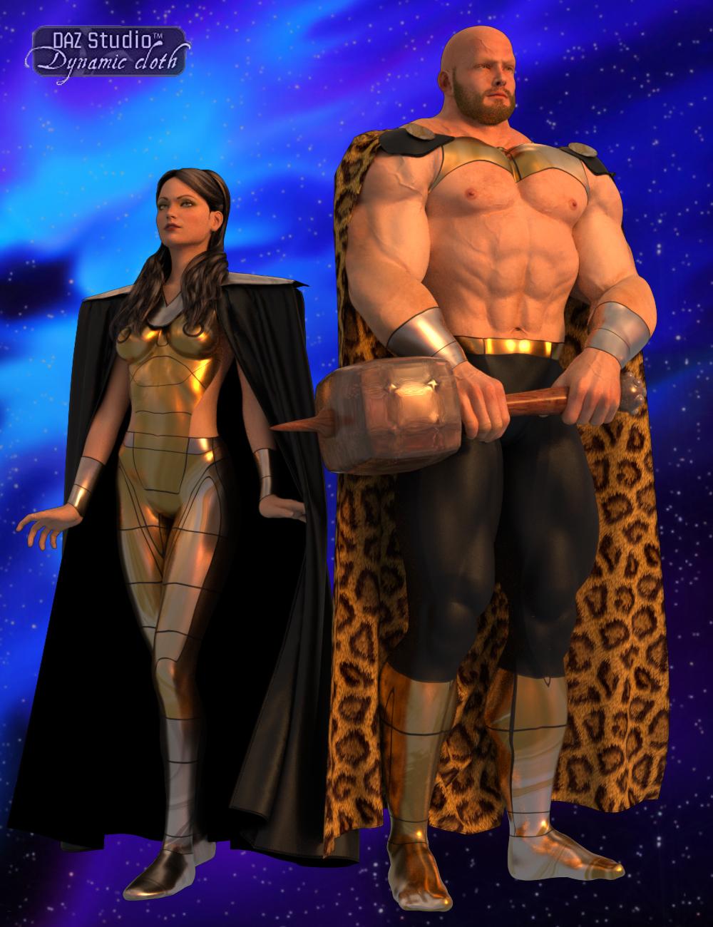 Dynamic Supersuit Set 2 Cosmic Gods by: SimonWMOptiTex, 3D Models by Daz 3D