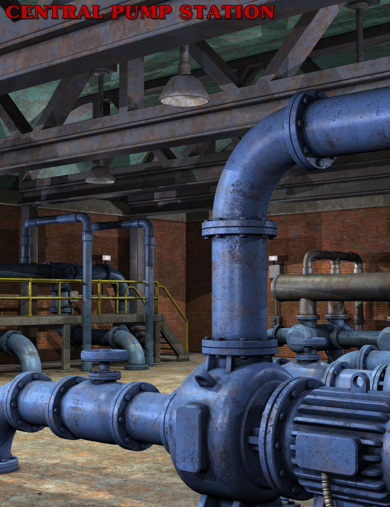 Central Pump Station by: Nightshift3D, 3D Models by Daz 3D