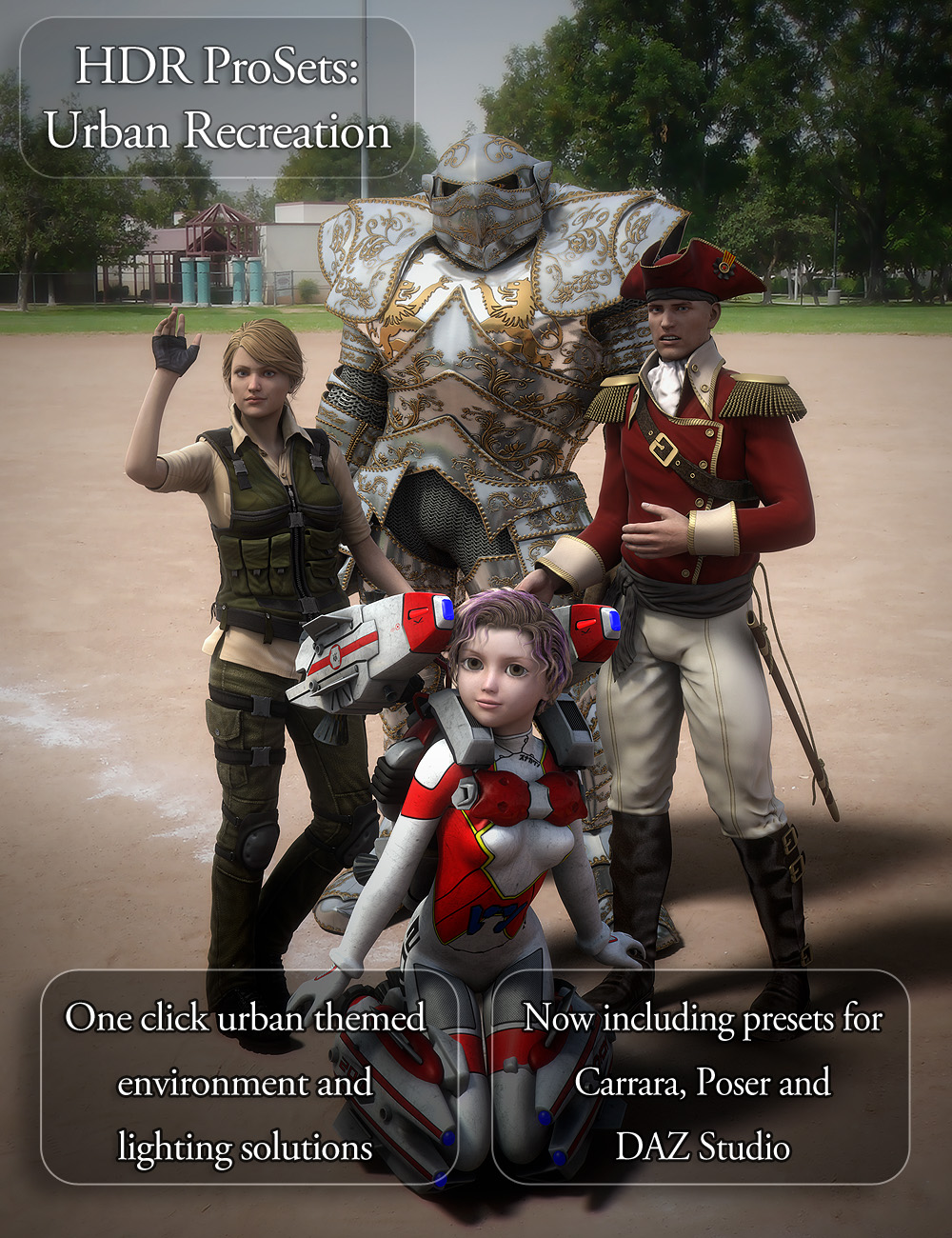 HDR Pro Sets Urban Recreation by: DimensionTheory, 3D Models by Daz 3D