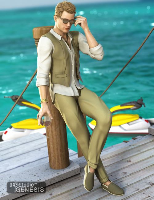 Effortless Cool for Genesis Male by: Ravenhair, 3D Models by Daz 3D
