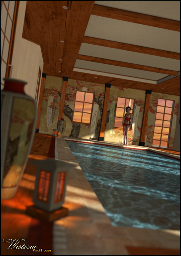 The Wisteria Pool House by: ForbiddenWhispersFWDesign, 3D Models by Daz 3D