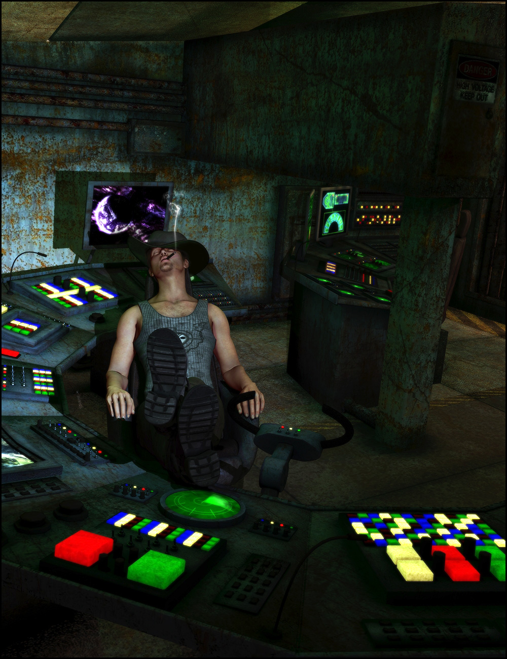 The Control Room by: ARTCollaborationsNeilV 1, 3D Models by Daz 3D