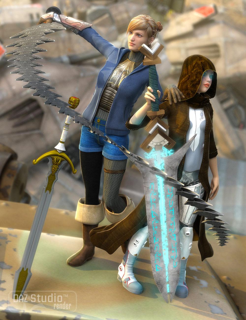 Swords Fantastic by: Valandar, 3D Models by Daz 3D