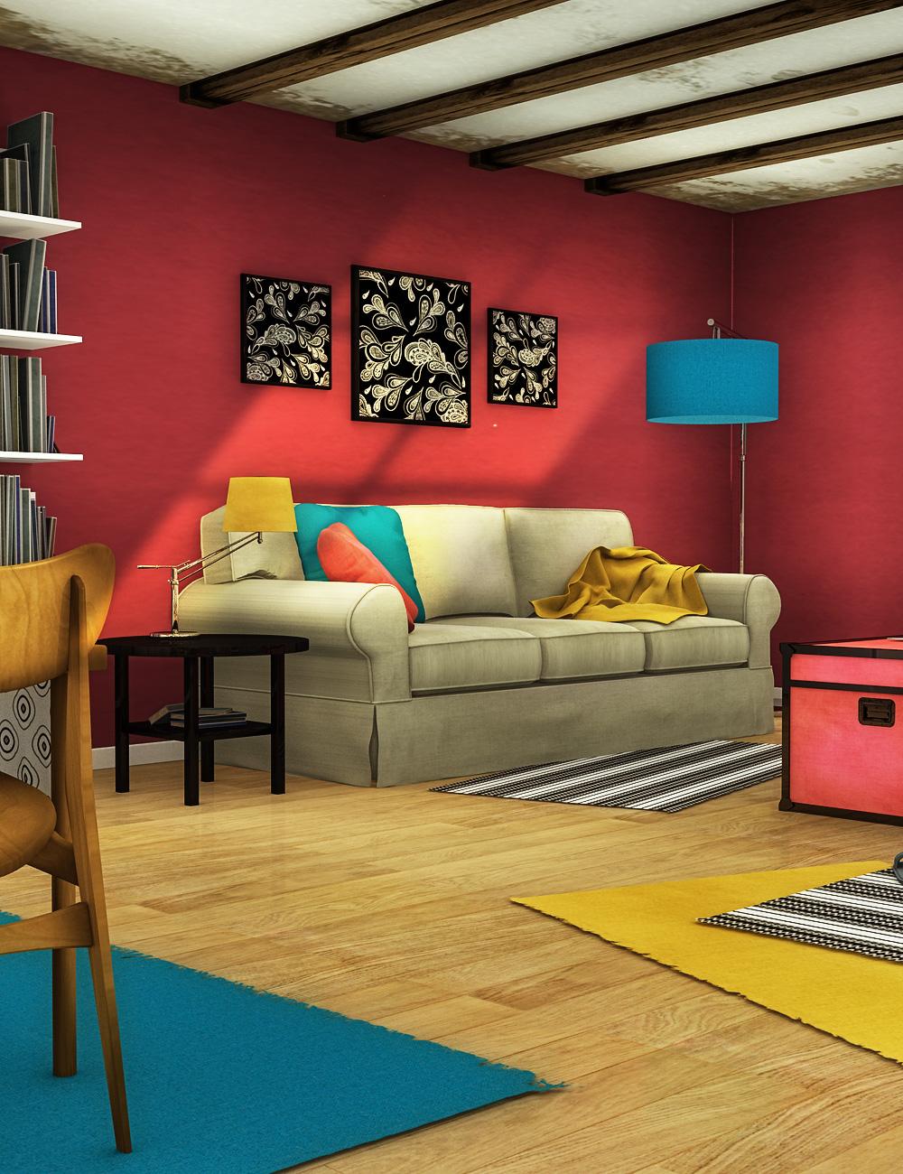 A Cozy Studio by: , 3D Models by Daz 3D