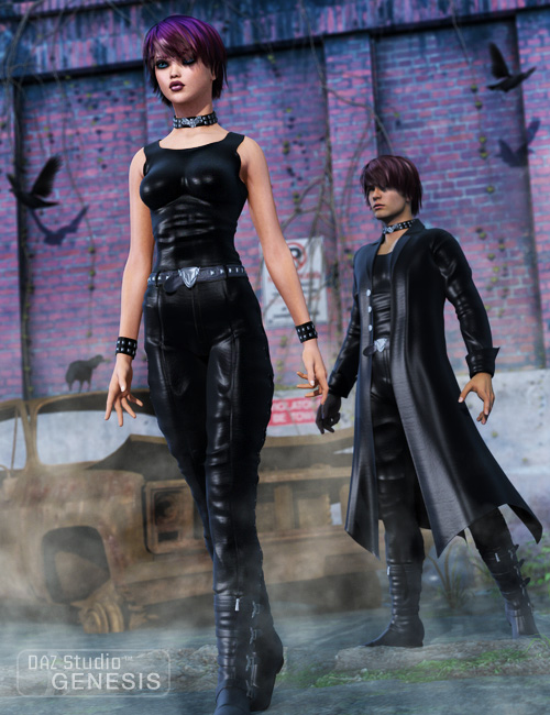 Dark Moods for Genesis by: Ravenhair, 3D Models by Daz 3D