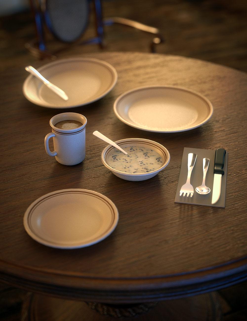 Diner Tableware by: blondie9999, 3D Models by Daz 3D