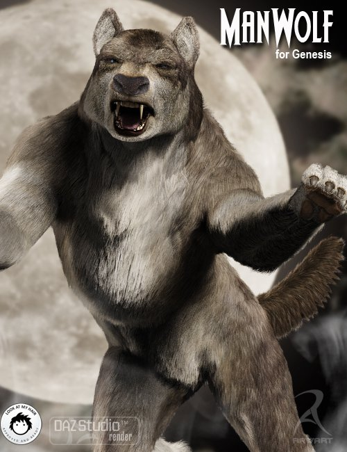 The Man Wolf by: RawArt, 3D Models by Daz 3D