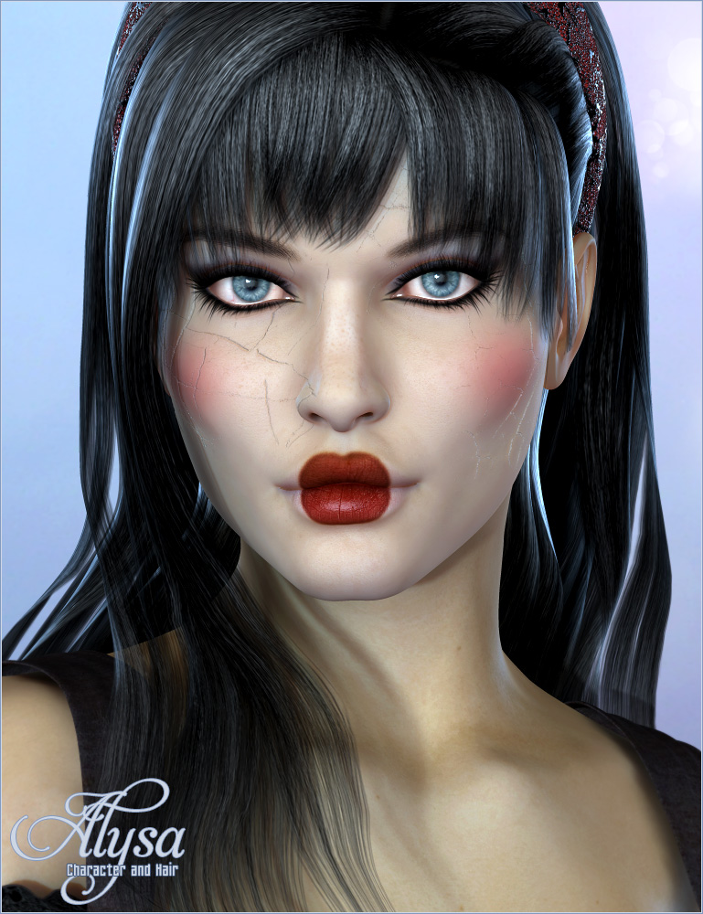 Alysa Character and Hair by: Valea, 3D Models by Daz 3D
