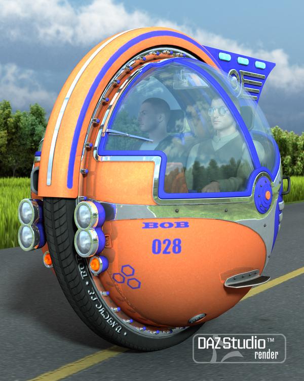 Unicycle Bob by: petipet, 3D Models by Daz 3D