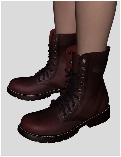 Cute3D Combat Boots by: Cute3D, 3D Models by Daz 3D