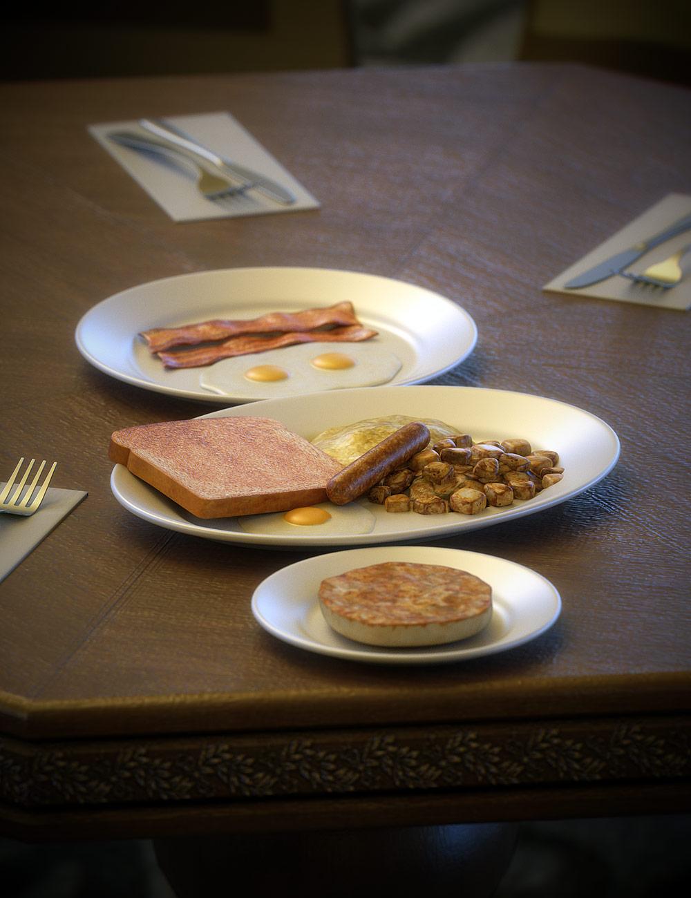 Diner Food 1 by: blondie9999, 3D Models by Daz 3D