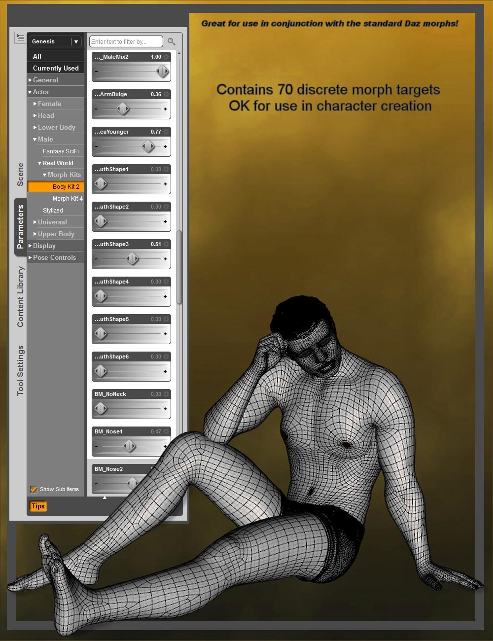 Genesis Body Morph Resource Kit 2 by: ThorneHandspan Studios, 3D Models by Daz 3D