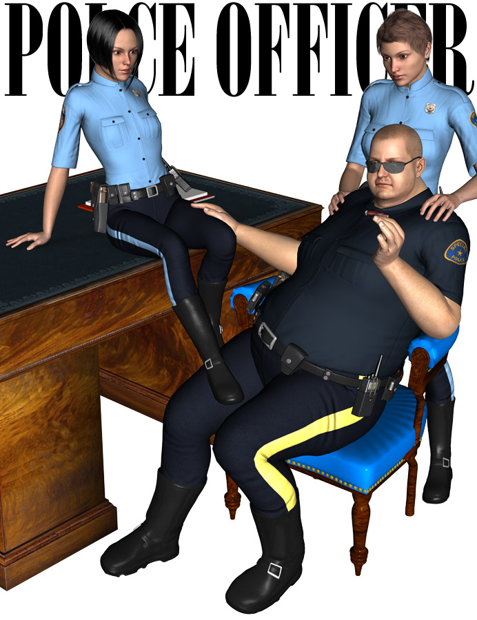 Police Officer by: Oskarsson, 3D Models by Daz 3D