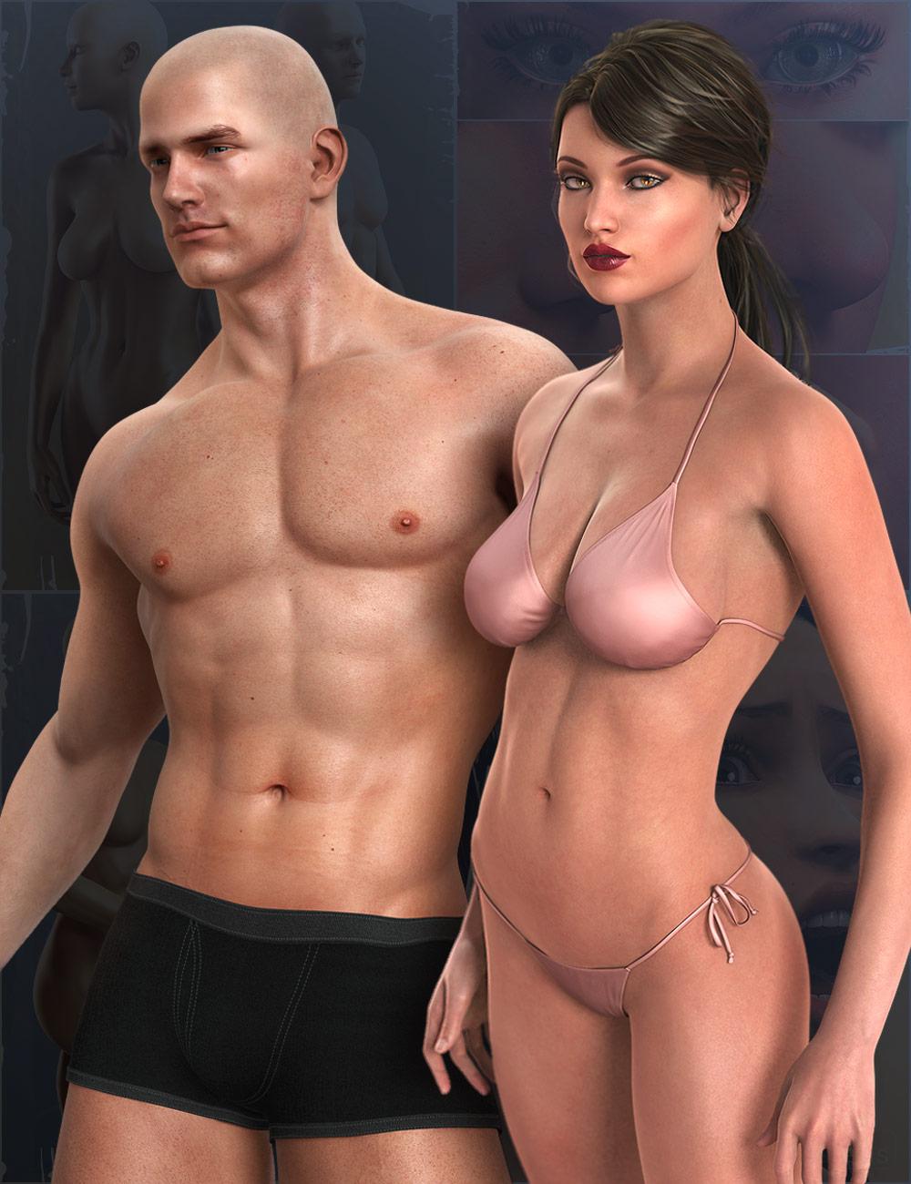 Genesis Michael Victoria Combo Bundle by: , 3D Models by Daz 3D