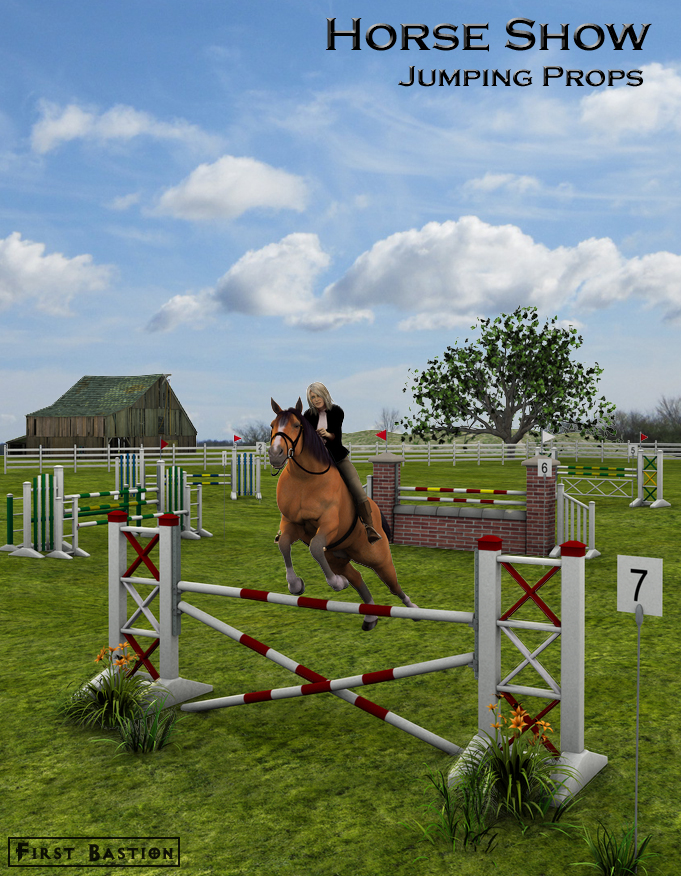 Horse Show Jumping Props by: FirstBastion, 3D Models by Daz 3D